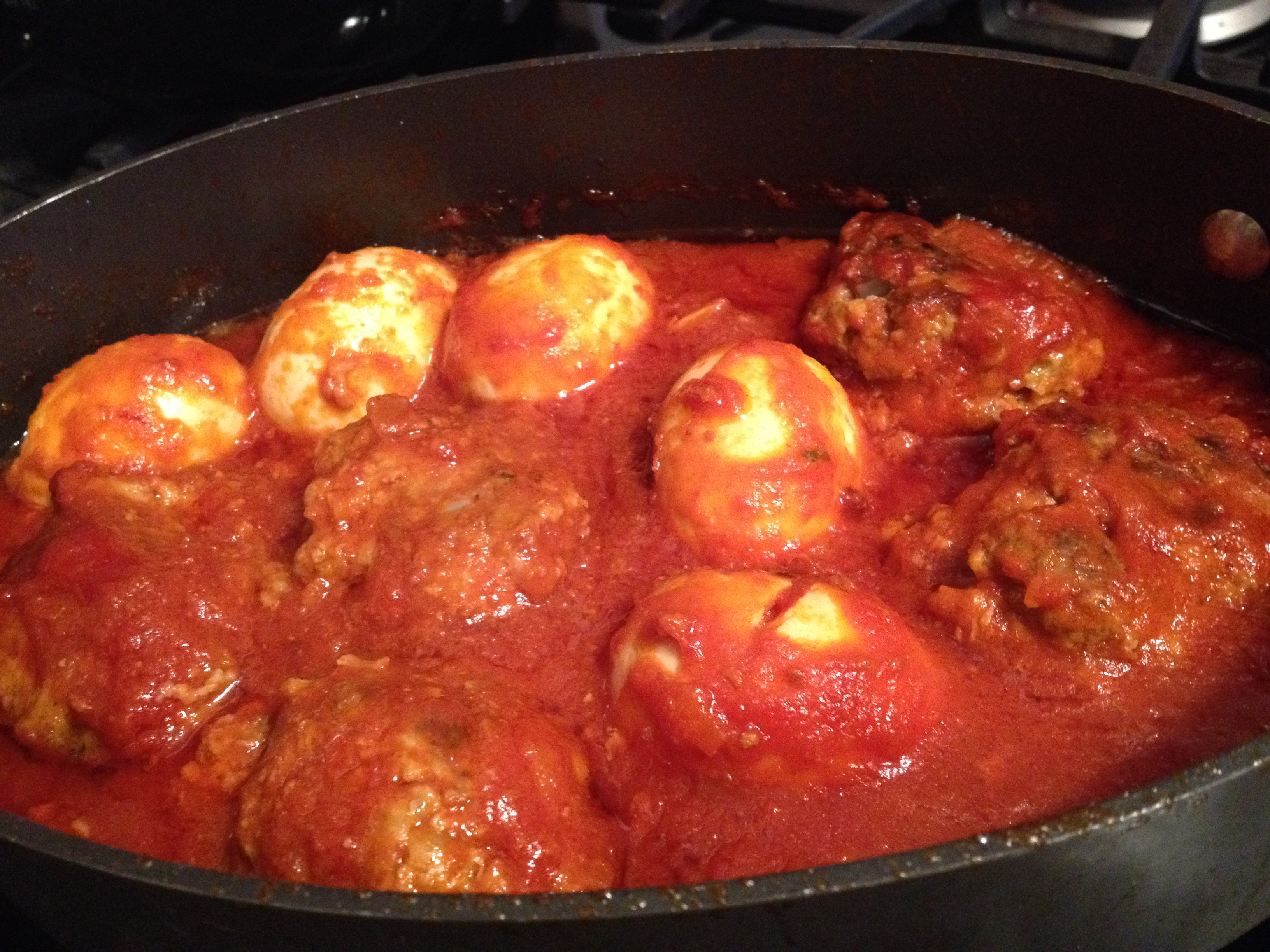 I Easily Served Five People Very Generous Portions, One Meatball, And One  Egg Each You Can Double This Recipe,